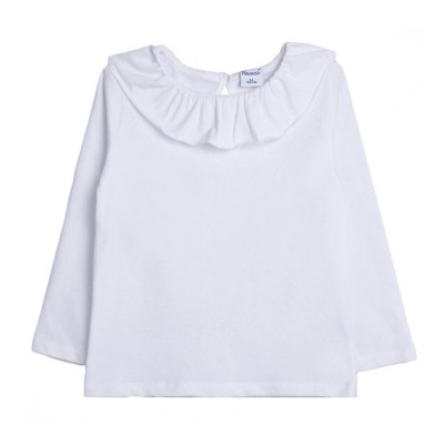 Camiseta Blanca Cuello Volante