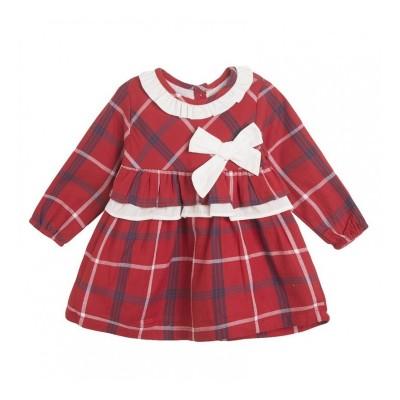 Vestido Bebe Rojo Cuadros