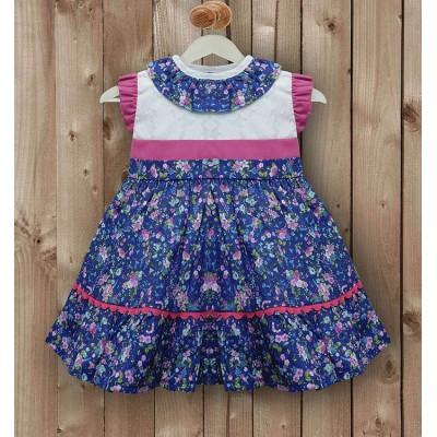 Vestido Azul Marino con florecillas
