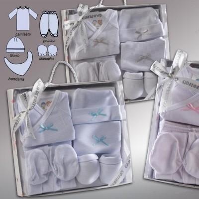 Pack de nacimiento 5 piezas Rayas