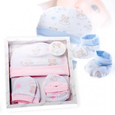 Pack Recien Nacido 3 Piezas Ositos