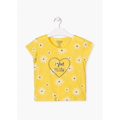 Camiseta Amarilla Margaritas Losan