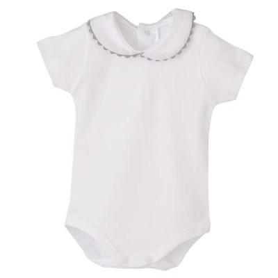 Body Blanco Cuello Piconela Gris