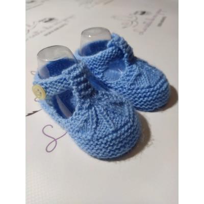 Patucos de Lana Artesanales Azul