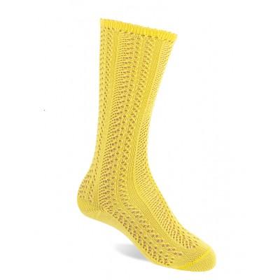 Calcetín Calado Amarillo  Jc