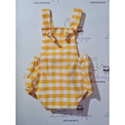 Ranita Vichy Amarillo Nudos